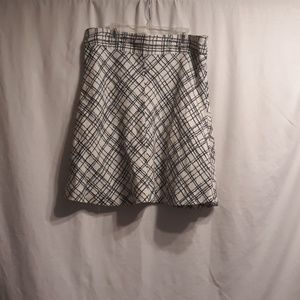 Merona lined skirt black and white size 8